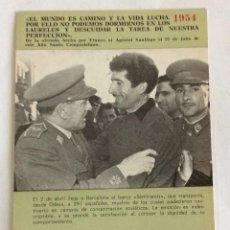 Postales: POSTAL DIVISIÓN AZUL. LLEGADA DEL BARCO SEMIRAMIS A BARCELONA EN 1954 CON DIVISIONARIOS.. Lote 103551487