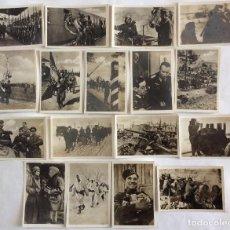 Postales: GRUPO DE 17 FOTO-POSTAL. GUERRA EN EL ESTE. ESCENAS DE DIVISIONARIOS. DIVISIÓN AZUL. 6X9 CENTÍMETROS. Lote 103559603