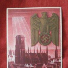 Postales: ANTIGUO ENTERO POSTAL TARJETA POSTAL ALEMANA III REICH ALEMÁN II SEGUNDA GUERRA MUNDIAL AÑO 1939. Lote 103575095