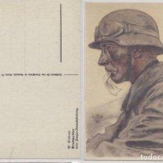 Postales: III REICH II GUERRA MUNDIAL POSTAL DE SOLDADO ALEMAN, MOTORISTA, CASCO Y GAFAS 1940.. Lote 103968935
