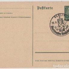 Postales: III REICH, 1937, ENTERO POSTAL KAISER, BERLIN, ENCUENTRO ENTRE MUSSOLINI Y HITLER, 29-9-37. DEUTSCHE. Lote 103972435