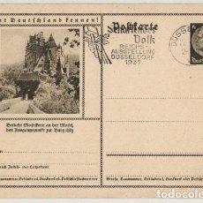 Postales: III REICH, 1937, ENTERO POSTAL KAISER, DEUTSCHES REICH POSTKARTE, CONOCE ALEMANIA, LERNT DEUTSCHLAND. Lote 103976951