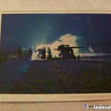 Postales: POSTAL DEL EJERCITO ALEMAN : ARTILLERIA PESADA EN ATAQUE NOCTURNO . PROPAGANDA NAZI PARA PORTUGAL.. Lote 105706299