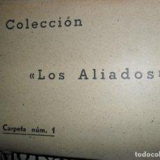 Postales: COLECCIÓN LOS ALIADOS, CARPETA NÚM. 1, CONTIENE 6 POSTALES SATÍRICAS, II GUERRA MUNDIAL. Lote 115007227