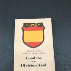 Postales: CUADROS DE LA DIVISION AZUL. LUCHAS DE LOS PUEBLOS EUROPEOS POR UNA NUEVA EUROPA COMPLETA COMO NUEVA. Lote 115235675
