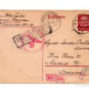 Postales: TARJETA POSTAL ENVIADA DE BERLIN A MADRID 1944 A JACOBO ORELLANA GARRIDO. PEDAGOGO (MÁLAGA).. Lote 115406379