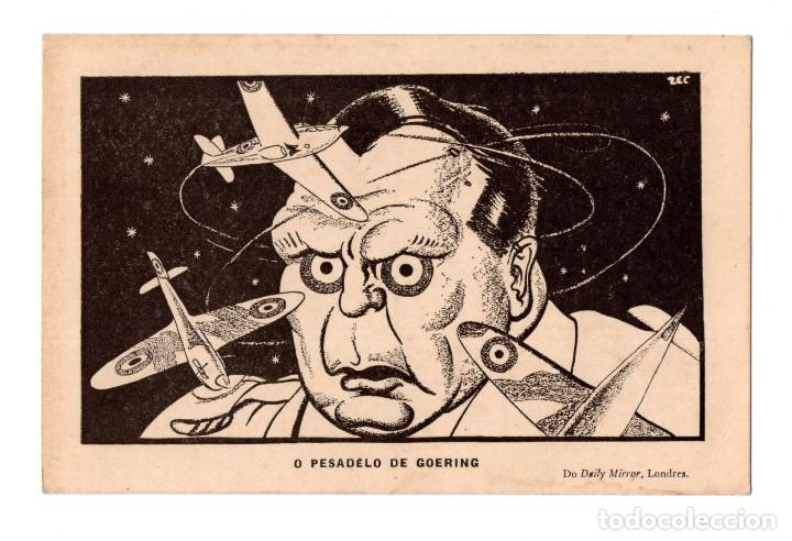 O PESADELO DE GOERING. DO DAILY MIRROR, LONDRES. (Postales - Postales Temáticas - II Guerra Mundial y División Azul)