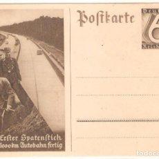 Postales: ALEMANIA, DEUTSCHE REICH, PUBLICIDAD NAZI, AUTOPISTAS ALEMANAS, 1936, POSTAL PREFRANQUEADA.. Lote 119246579