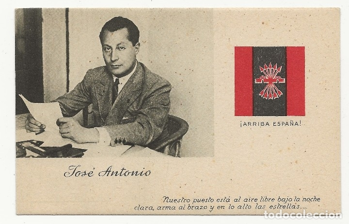 R41.CARP_01/ ESPAÑA, GUERRA CIVIL, 1 POSTAL DE PRIMO DE RIBERA (Postales - Postales Temáticas - II Guerra Mundial y División Azul)