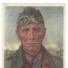 Postales: ROMMEL CON FIRMA AUTOGRAFIADA ESTAMPILLADA. POSTAL CIRCULADA EN EL AÑO 1941. Lote 119740247