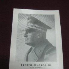 Postales: BENITO MUSSOLINI. DUCE D'ITALIA. DOVIA 29 LUGLIO 1883 - DONGO 28 APRILE 1945.. Lote 127322723