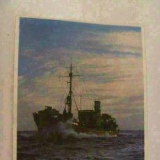 Postales: POSTAL DEL EJERCITO ALEMAN : BARCO PATRULLA . PROPAGANDA NAZI PARA PORTUGAL. Lote 129739863