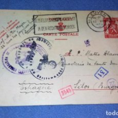 Postales: CARTA POSTAL CON CENSURA Y SELLOS NAZIS ORIGINAL 1942 MONASTERIO STO DOMINGO VER DESCRIPCION. Lote 135412718