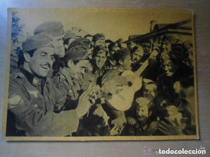 ANTIGUA POSTAL DIVISION AZUL - UNA CANCION DEL TERRUÑO - II GUERRA MUNDIAL (Postales - Postales Temáticas - II Guerra Mundial y División Azul)