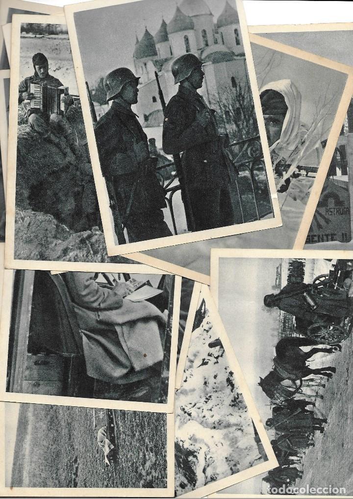 LOTE DE 22 POSTALES DE LA DIVISIÓN AZUL (Postales - Postales Temáticas - II Guerra Mundial y División Azul)