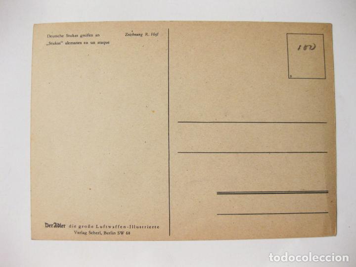 Postales: POSTAL DER ADLER - II GUERRA MUNDIAL - STUKAS ALEMANES EN UN ATAQUE - Foto 2 - 139053686
