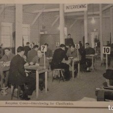 Postales: OLD POST CARD.RECEPTION CENTER.INTERVIEWING FOR CLASSIFICATION. WW II. NEW CUMBERLAND.USA 1942. Lote 139242478