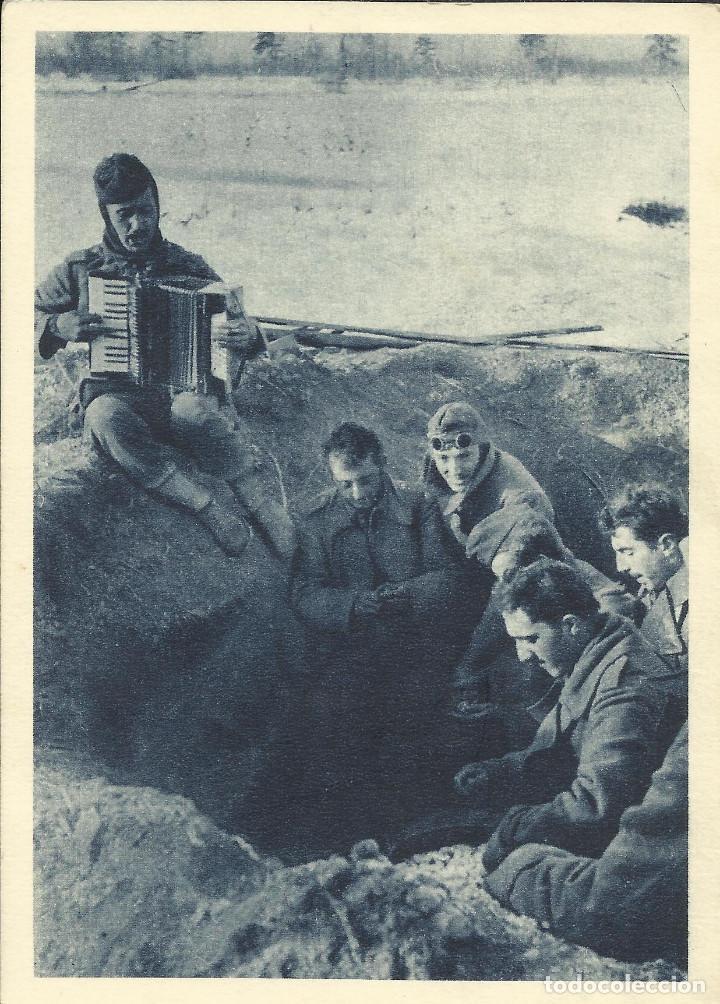 CONJUNTO DE 5 POSTALES ORIGINALES DE LA DIVISIÓN AZUL (SIN CIRCULAR) (Postales - Postales Temáticas - II Guerra Mundial y División Azul)
