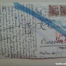 Postales: POSTAL DE LAUSANNE ( SUIZA ) CIRCULADA A BARCELONA. CENSURA MILITAR Y CUÑO ALEMANIA NAZI, 1943.. Lote 145867214