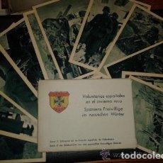 Postales: CARTERA CON 12 POSTALES. SERIE II VOLUNTARIOS ESPAÑOLES EN EL INVIERNO RUSO. DIVISIÓN AZUL. Lote 148051158