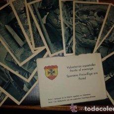 Postales: CARPETILLA CON 12 POSTALES, VOLUNTARIOS ESPAÑOLES FRENTE AL ENEMIGO, DIVISION AZUL. Lote 148051622