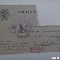 Postales: DIVISION AZUL : POSTAL ENVIADA DESDE VALENCIA A DIVISIONARIO EN ALEMANIA. 1943. CUÑO NAZI Y CENSURA.. Lote 150484870