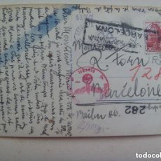 Postales: POSTAL LAGO NEUCHATEL ( SUIZA ) CIRCULADA A BARCELONA. CENSURA MILITAR Y CUÑO ALEMANIA NAZI. 1943. Lote 153203510