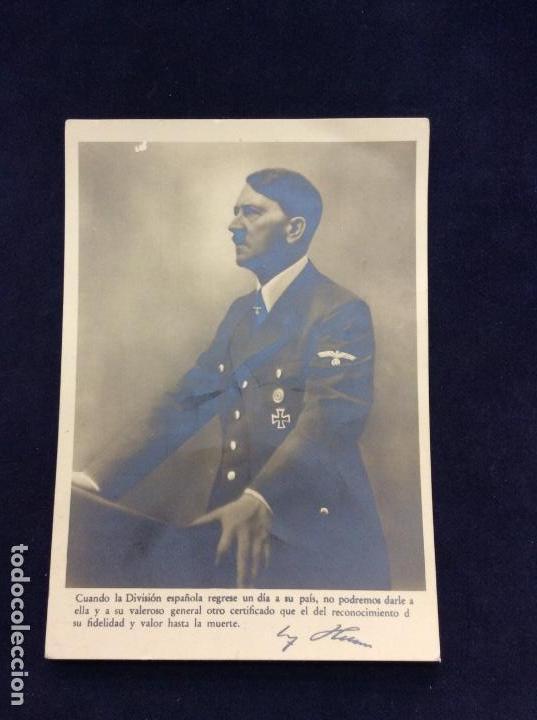AGRADECIMIENTO DE HITLER A LA DIVISIÓN AZUL C 2235 SIN CIRCULAR (Postcards - Themed - Second World War and Blue Division)