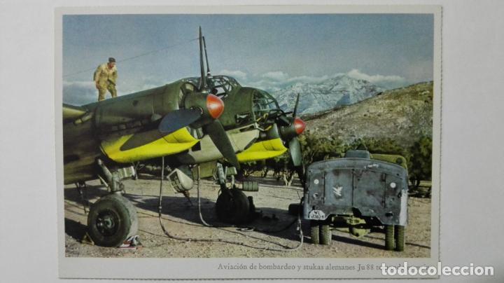 ANTIGUA POSTAL, AVIACION DE BOMBARDEO Y STUKAS ALEMANES JUNKERS JU 88, FOTO PK. OTTOHALL (Postales - Postales Temáticas - II Guerra Mundial y División Azul)