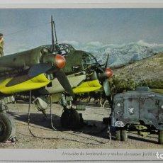 Postales: ANTIGUA POSTAL, AVIACION DE BOMBARDEO Y STUKAS ALEMANES JUNKERS JU 88, FOTO PK. OTTOHALL. Lote 158267362