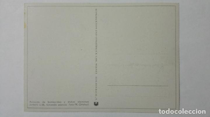 Postales: ANTIGUA POSTAL, AVIACION DE BOMBARDEO Y STUKAS ALEMANES JUNKERS JU 88, FOTO PK. OTTOHALL - Foto 2 - 158267362