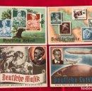 Postales: SERIE COMPLETA DE POSTALES, AUSTELLUNG DRESDEN 1936 DEL TERCER REICH. Lote 158931714