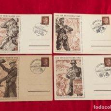 Postales: LOTE DE POSTALES TAG DER BRIEFMARKE 1942 DEL TERCER REICH. Lote 158937866