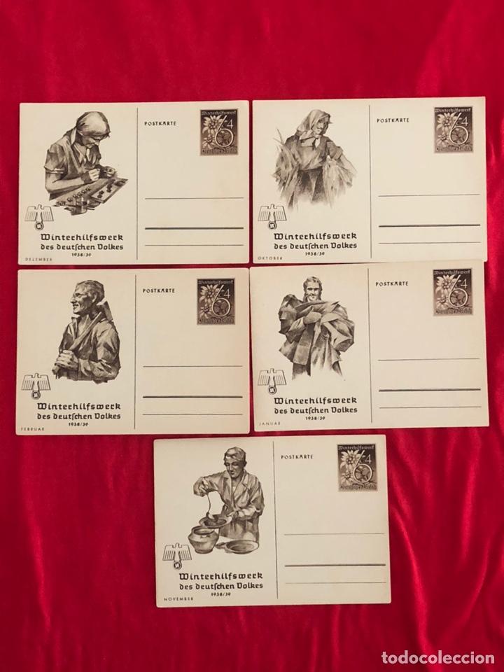 LOTE DE POSTALES WHW 1938/39 DEL TERCER REICH (Postales - Postales Temáticas - II Guerra Mundial y División Azul)
