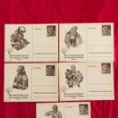 Postales: LOTE DE POSTALES WHW 1938/39 DEL TERCER REICH. Lote 158938810
