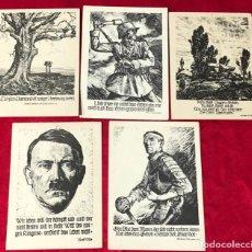 Postales: LOTE DE POSTALES PROPAGANDÍSTICAS DEL TERCER REÍCH , ORIGINALES DE ÉPOCA. Lote 158997462