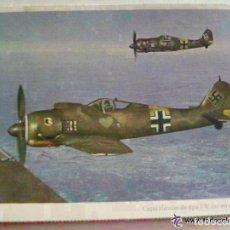 Postales: POSTAL DEL EJERCITO ALEMAN - AVIACION : AVION CAZA FW 190. PROPAGANDA NAZI PARA PORTUGAL. Lote 159001270