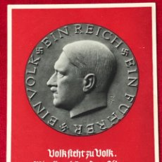Postales: POSTAL PROPAGANDÍSTICA DEL TERCER REICH . ORIGINAL DE ÉPOCA. Lote 159388594
