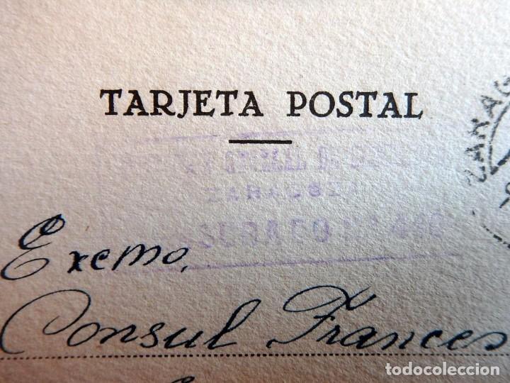 Postales: (JX-190406)Postal enviada al Consulado Francés en Zaragoza por Antonie Dostal desde Prision - Foto 2 - 160002110