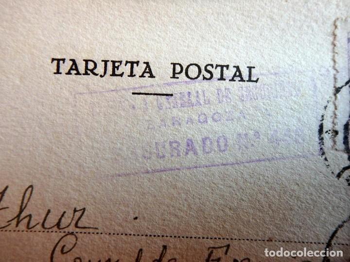 Postales: (JX-190423)Postal enviada al Consulado Francés en Zaragoza porJ.Claude Huan,desde la Prisión - Foto 2 - 160057666