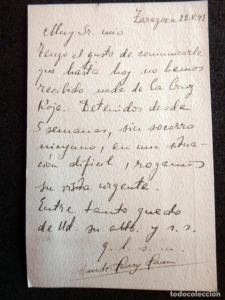 Postales: (JX-190423)Postal enviada al Consulado Francés en Zaragoza porJ.Claude Huan,desde la Prisión - Foto 3 - 160057666
