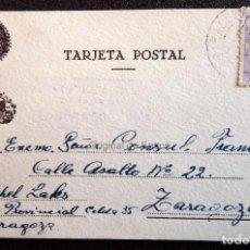 Postales: (JX-190430)POSTAL ENVIADA AL CONSULADO FRANCÉS EN ZARAGOZA POR MICHAEL LACKS,DESDE LA PRISIÓN . Lote 160061138