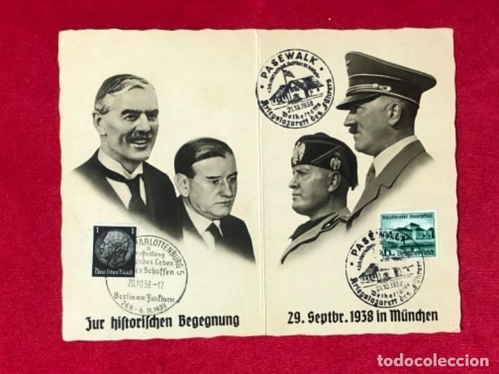 POSTAL ONMEMORATIVA DE LA CONFERENCIA DE MÚNICH, ORIGINAL DE EPOCA (Postales - Postales Temáticas - II Guerra Mundial y División Azul)