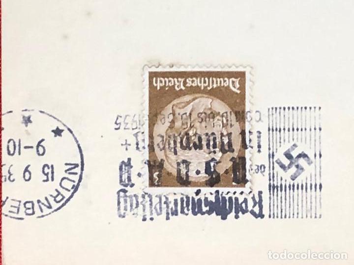 Postales: Colección de 95 cancelaciones del tercer reích, sello hindembug - Foto 5 - 161831650