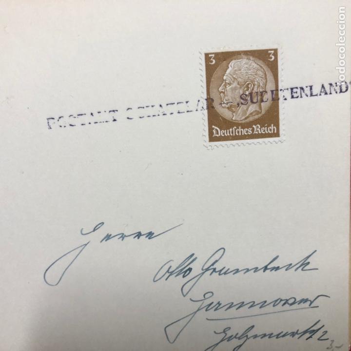 Postales: Colección de 95 cancelaciones del tercer reích, sello hindembug - Foto 36 - 161831650