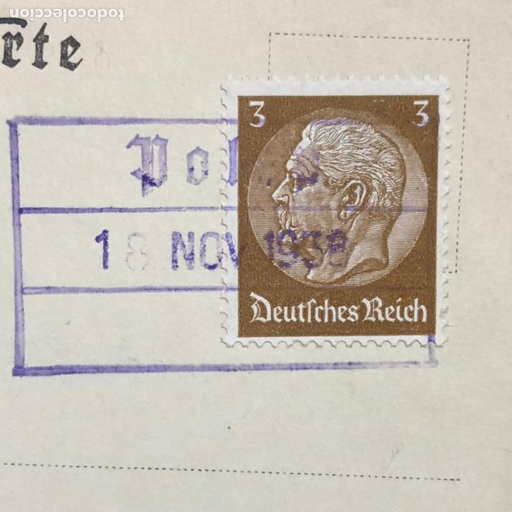 Postales: Colección de 95 cancelaciones del tercer reích, sello hindembug - Foto 37 - 161831650