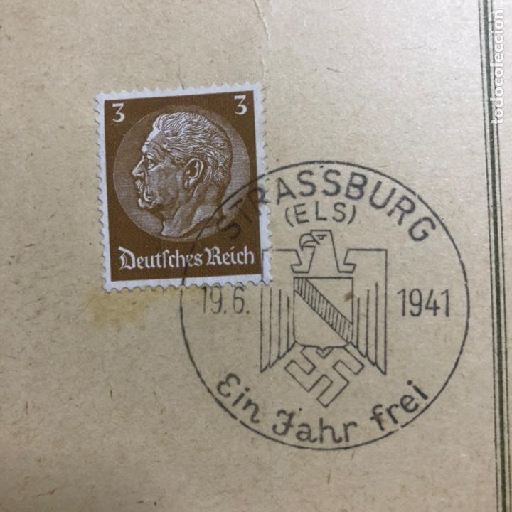 Postales: Colección de 95 cancelaciones del tercer reích, sello hindembug - Foto 38 - 161831650
