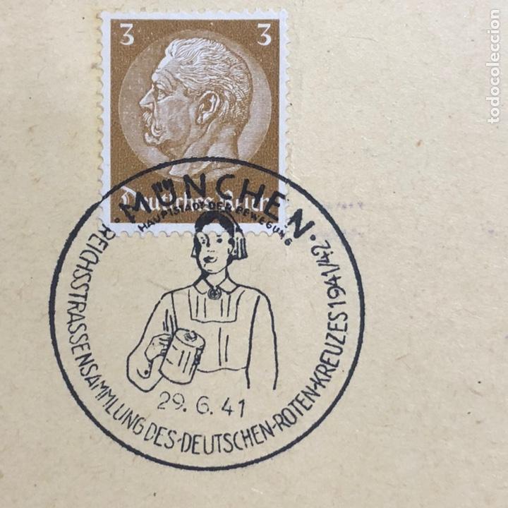 Postales: Colección de 95 cancelaciones del tercer reích, sello hindembug - Foto 39 - 161831650