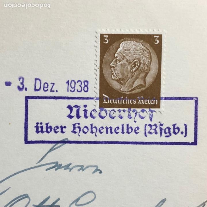 Postales: Colección de 95 cancelaciones del tercer reích, sello hindembug - Foto 42 - 161831650