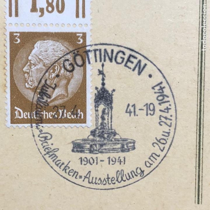 Postales: Colección de 95 cancelaciones del tercer reích, sello hindembug - Foto 45 - 161831650